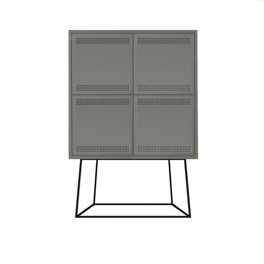 Paper Cabinet Large Dark Gray
