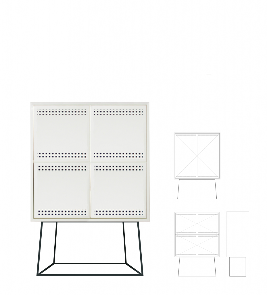 Paper cabinet large