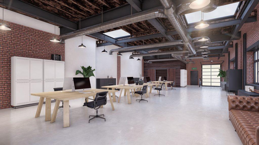 Cirulair meubilair kantoorinrichting