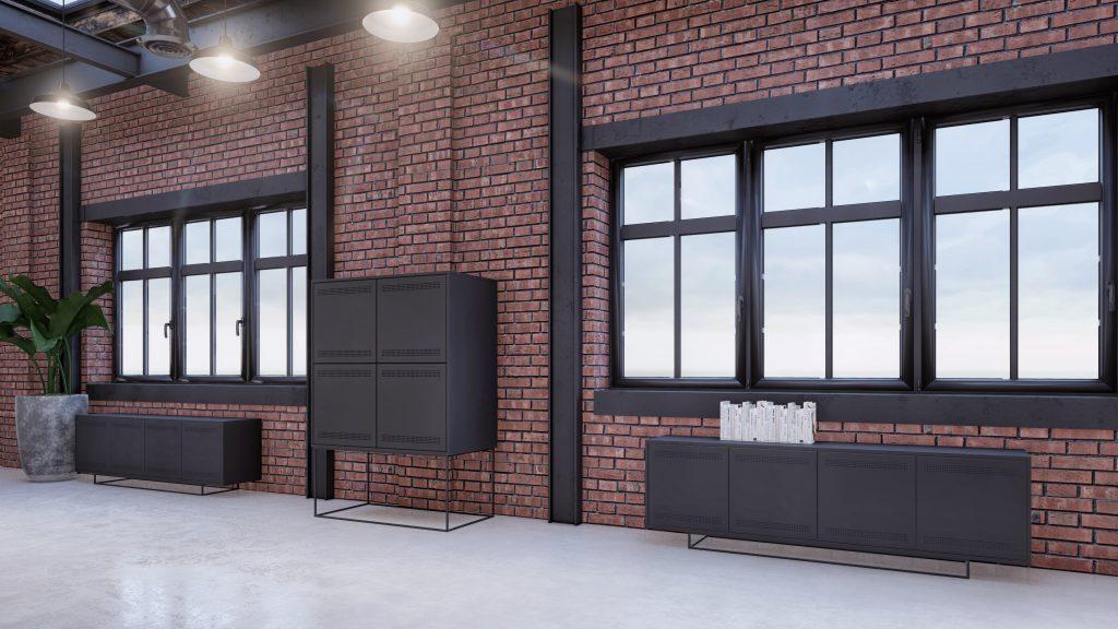Circulaire kantoor meubels